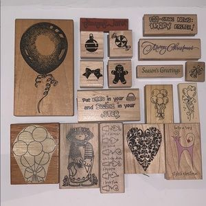 STAMPS LOT -  STAMPIN UP STAMPENDOUS STAMPS HAPPEN